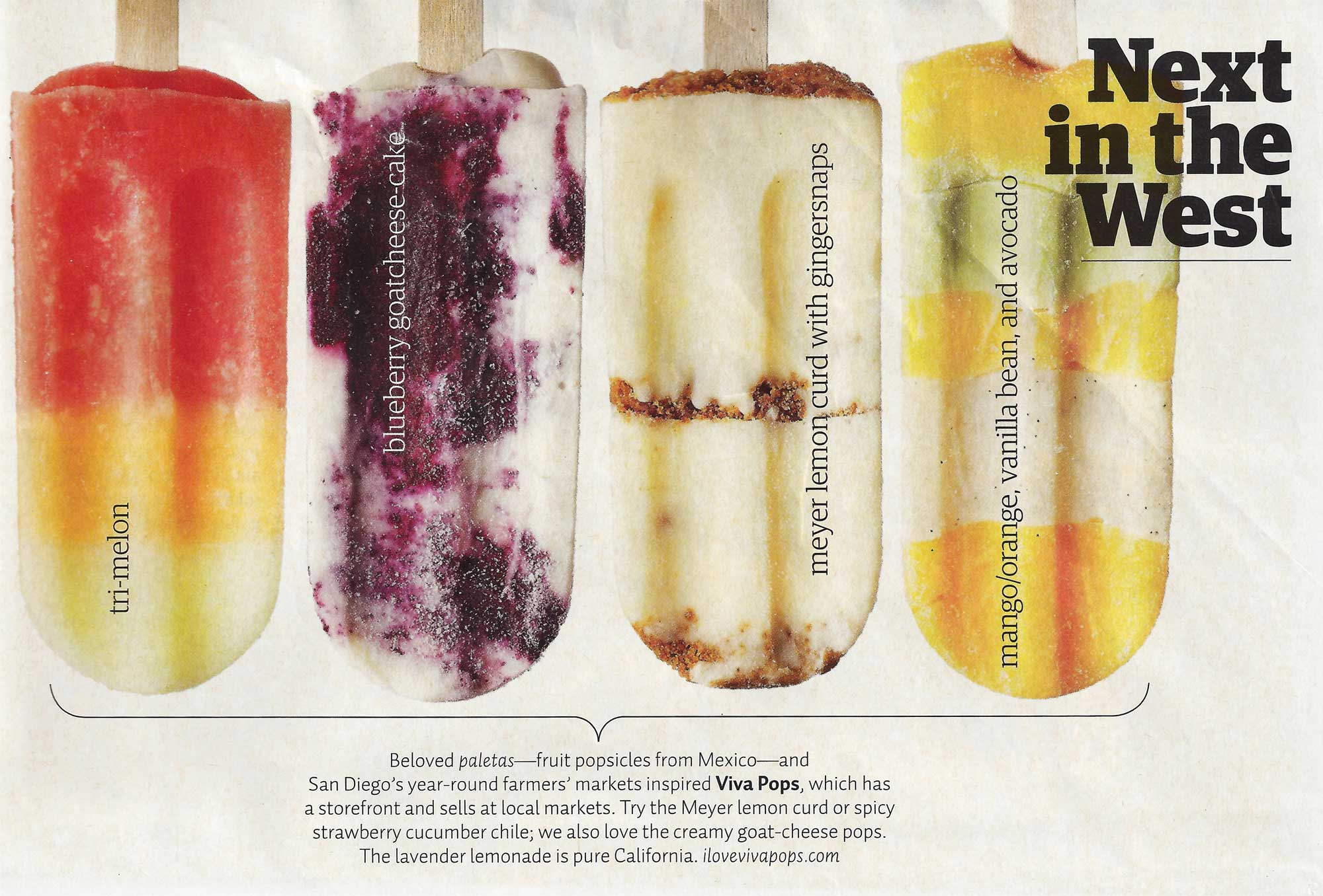 Viva Pops Featured in Sunset Magazine